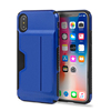 For Apple iPhone X Luxury Anti Shock Back Case Card Holder TPU PC Hybrid Mobile Phone Armor Cover