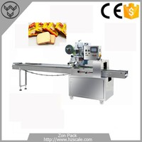 High quality bread biscuit horizontal pillow packing machine