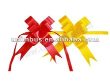 butterfly satin ribbon drawstring pull bows for merchandise