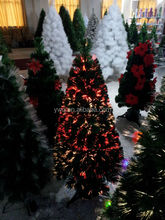 12'' white fiber optic christmas tree battery fiber optic christmas tree