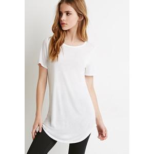 Longline T Shirt Women Blank White T-shirt - Buy Blank T-shirt ...