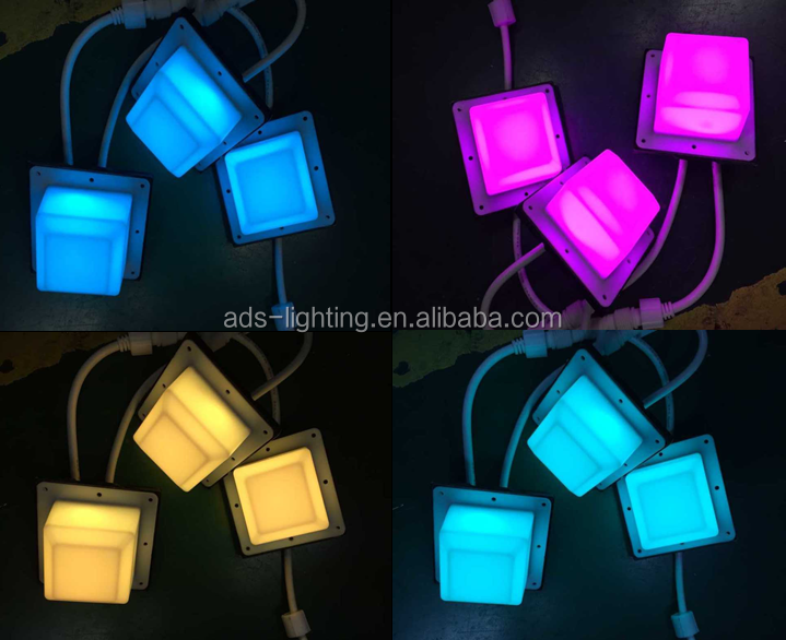 45mm dc12v square crystal light for wall ceiling decoration Madrix waterproof rgb pixel light led
