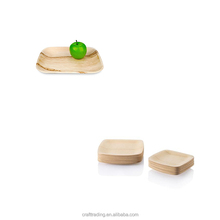 Eco ware palm leaf bamboo wood plates disposable biodegradable dinnerware