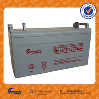 HOT Sale best quality Chinese sealed lead acid maintenance free 48v 24v 12v 100ah solar battery for solar ups telecom