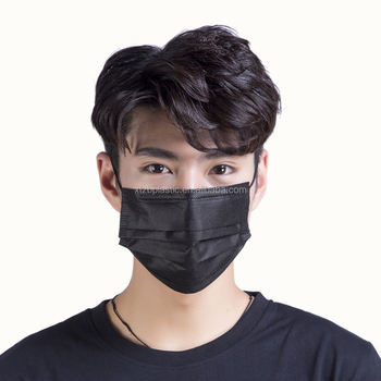 disposable black face mask