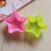 7cm five pointed star muffin cup mold silicone cupcake mold silicone cake mould silicone jelly cake decorations mold cake mould