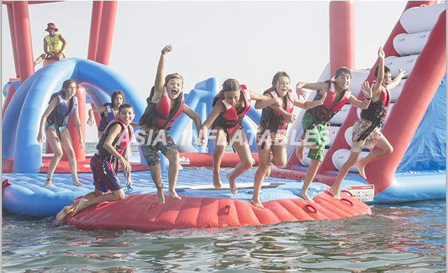 Biggest Floating Aqua Park Playground/ Inflatable Water Air Obstacle Course For Business Rental