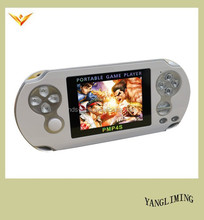 cheap hand held game console of PMP4S support HD AVI/FLV/RM/RMVB/MP4/3GP