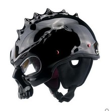 YM-333 2017 cool welding motorcycle helmet designs with skull skeleton open face helmet motorcycle