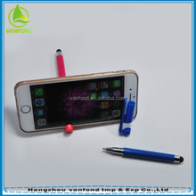 Multifunction touch screen stylus pen with phone stand