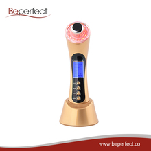BP153 5 in 1 home use electric face beauty machine ultrasonic galvanic face massager Reduces puffiness