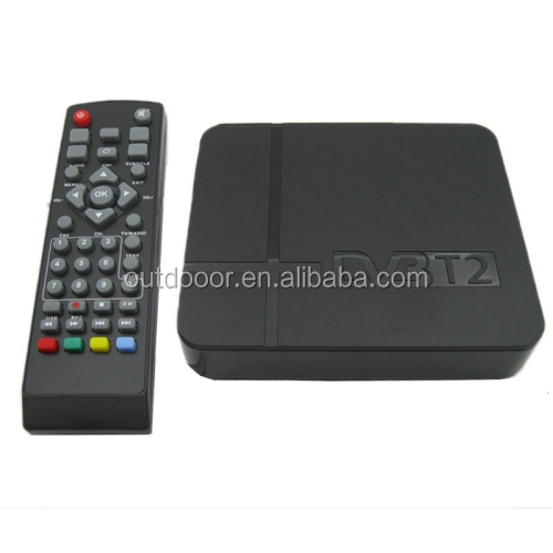 China Wholesale cheap Mini Terrestrial Receiver HD DVB-T2 Set Top Box, Support USB / MPEG4 /H.264(Black)