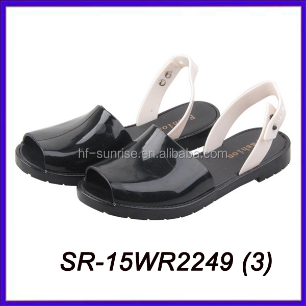 clear women jelly sandals ladies fancy flat sandal new design flat sandals