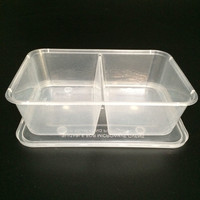 Disposable microwave plastic food container for food take away