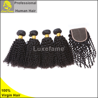 black women natural color virgin jerry curl weave extensions human hair