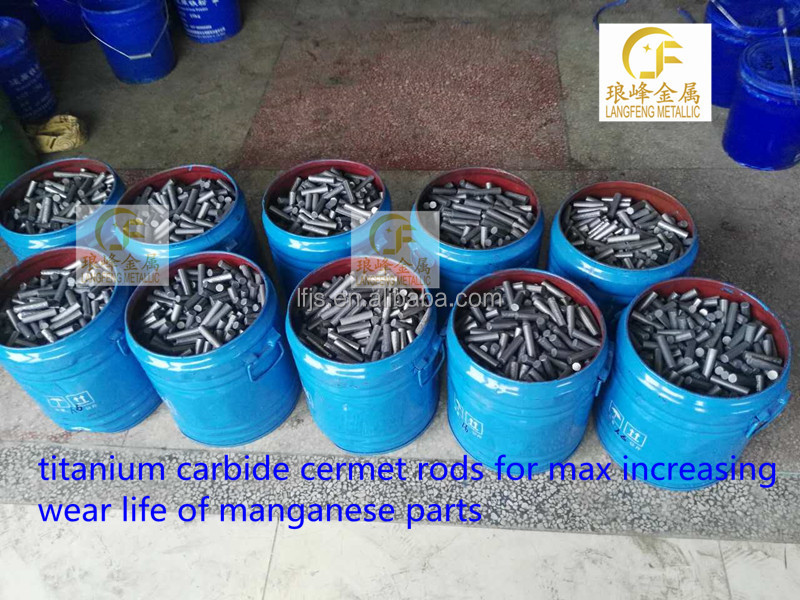 Titanium carbide cermet rods 12x50 for max wear life in impactors blows bars Corrosion