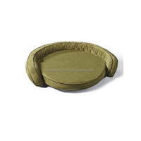 Green color cool gel memory foam dog bed