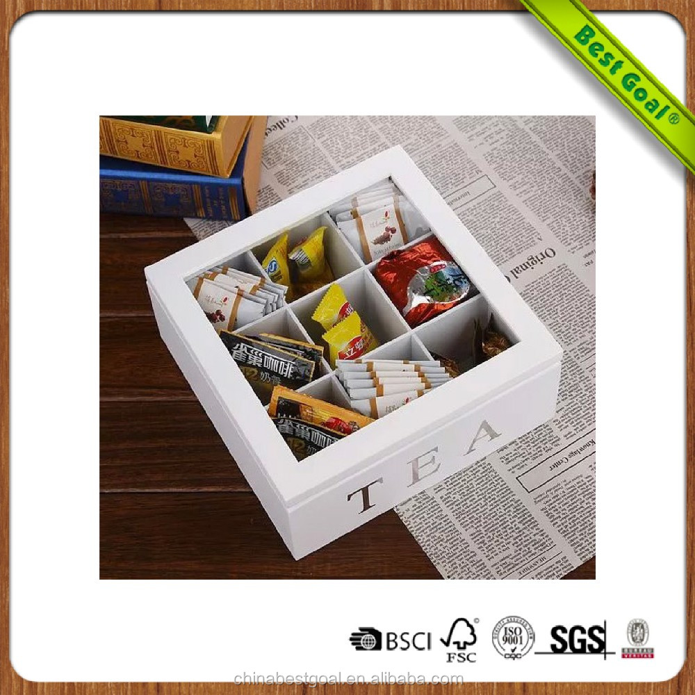White Square wooden tea packaging box