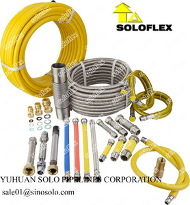 stainless steel flexible hoses for gas or water, AISI304/AISI316L