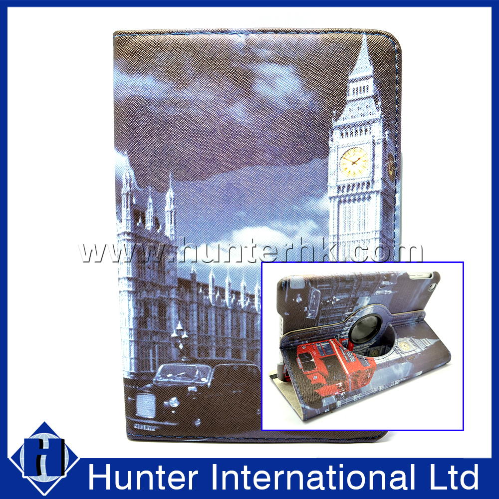 New Clock Tower Rotating Tablet Case For iPad Mini