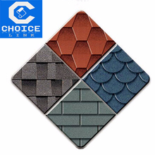 3-Tab fiberglass cheap red asphalt roofing shingles