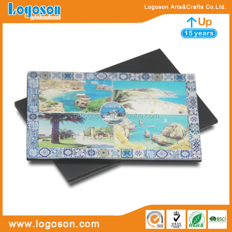 Promotional Ocean Design Magnet With Printed Paper Tourist Souvenir Fridge Magnet.