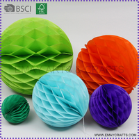 Tissue paper honeycomb ball