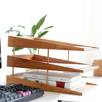 Office School Bamboo Desk Organizer