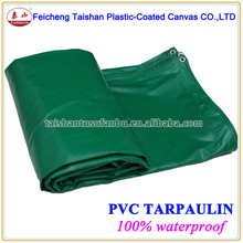 480gsm plastic waterproof green PVC fabric tarpaulin cover China supplier