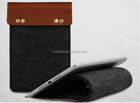 Newest Design Simple Style Wool Felt & Genuine Leather Sleeve Case For ipad mini case 2 for Samsung Note 8.0 8 inch