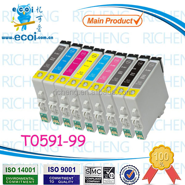 ink cartridge refill T0591 T0592 T0593 T0594 T0595 T0599 for printer stylus R2400