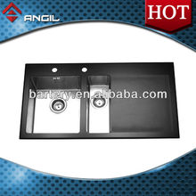 ANDIL Glass Panel Sink Stainless Steel Sink