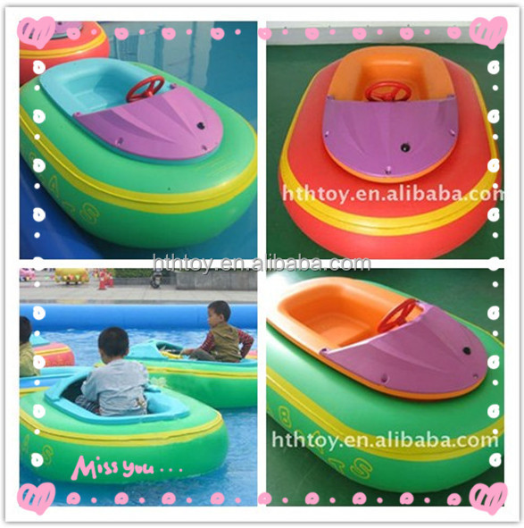 Battery operated PVC water boat kids bumper boat
