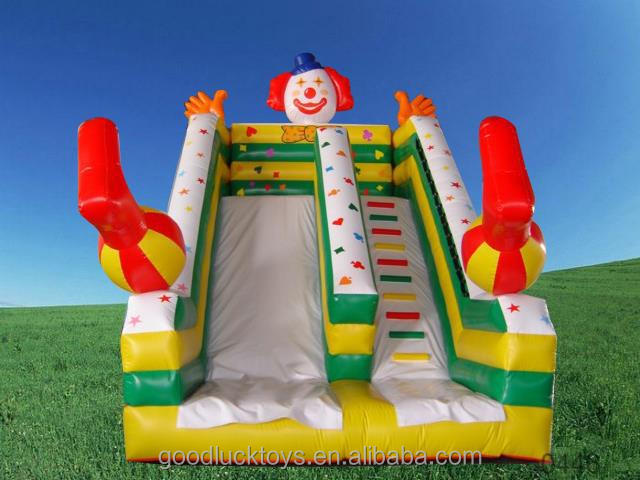 Outdoor Lawn Customize Happy Clown Fun Inflatable Slide for Kids Party, inflatable water slide clearance