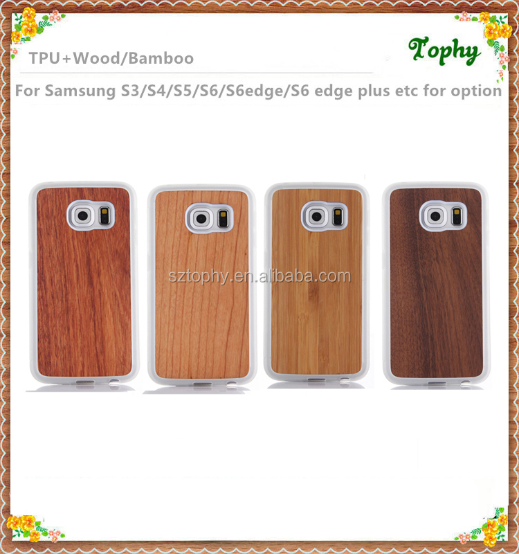 2016 Best selling Wood skin TPU soft case for Samsung galaxy S6 alibaba