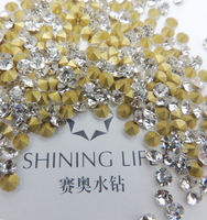 New fashion jewelry accessories,glass pointback rhinestone,shining life crystal
