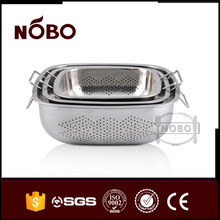 Good design kitchen rectangular colander use