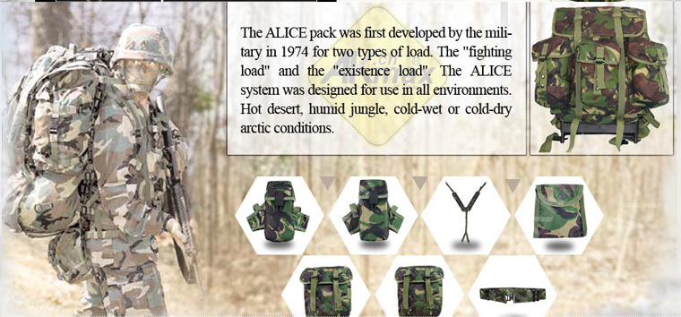 U.s Military Drab Alice Pack With Frame Army Lightweight Individual ...