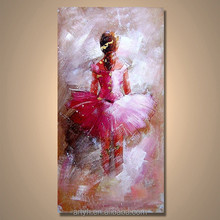Wholesale Handmade Beautiful Girl Modern Fine Art Canvas Picture