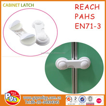 baby safety latch/locking cabinet latch/plastic cabinet lock