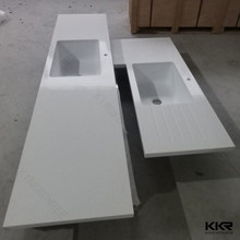 KKR prefab quartz/laminate l shape kitchen countertop