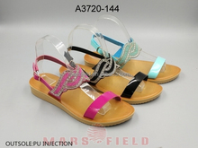 Fashion summer style injection shoes fancy ladies pu sandals