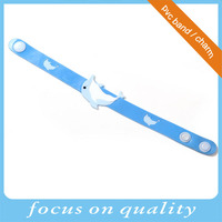 high quality micro injection rubber pvc convex design cartoon children plastic wrist band
