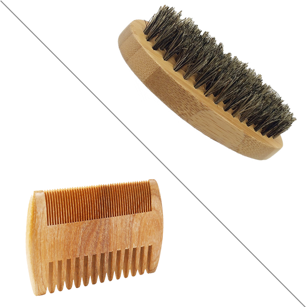 Alibaba Wholesale Wood And Bamboo Custom Beard Brush Boar Comb For Beard Beauty