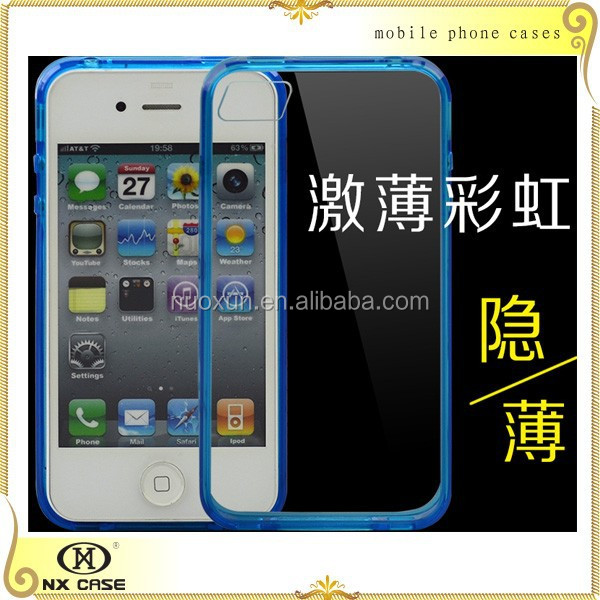 Transparent mobile phone cover for iPhone 4