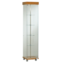beer pint glass cube cabinet display with wheels