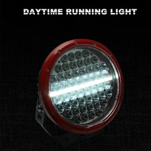 Hottest Car Lights Red 296w Super Bright 9 inch DRL Motorcycle LED Driving Lights for Offroad