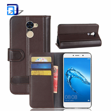 Mobile Phones and Accessories Classic Real Genuine Leather Flip Wallet Slim Card Holder Case Cover For Huawei Enjoy 7 Plus