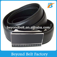 Beyond Formal Full Grain Genuine Leather Dress Belt with Sliding Buckle