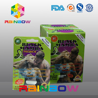 Super female sexual excitement medicine natural herbal sex tablet packaging paper box customized design